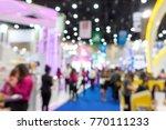 blur money expo exhibition for... | Shutterstock . vector #770111233