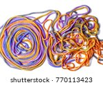 laces texture. wo lined boot... | Shutterstock . vector #770113423