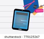 school business objects on a... | Shutterstock .eps vector #770125267