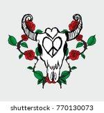 bull skull graphic design...   Shutterstock .eps vector #770130073