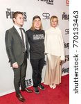 "Small photo of Evan Peters, Bryan Buckley, Melanie Griffith attends LA Premiere of ""The Pirates Of Somalia"" at Grauman's Chinese Theatre,Los Angeles, California on December 6 2017"