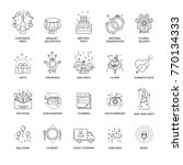 event and party line icons set... | Shutterstock .eps vector #770134333