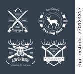 hunting club or hunt adventure... | Shutterstock .eps vector #770134357