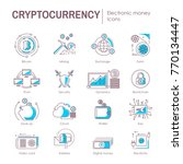 cryptocurrency electronic... | Shutterstock .eps vector #770134447