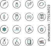 line vector icon set   pipette... | Shutterstock .eps vector #770136523