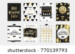holidays cards and posters... | Shutterstock .eps vector #770139793