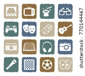 entertainment icons. grunge... | Shutterstock .eps vector #770144467