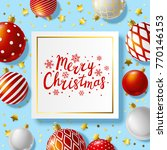 christmas greeting card with... | Shutterstock .eps vector #770146153
