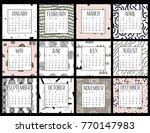Modern Creative Calendar 2018....