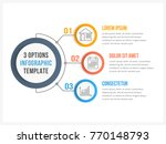 circle infographic template... | Shutterstock .eps vector #770148793
