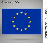 simple flag of european union...   Shutterstock .eps vector #770156617
