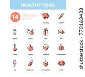 healthy food   line design... | Shutterstock .eps vector #770163433
