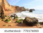 algarve coast beach shore ... | Shutterstock . vector #770176003