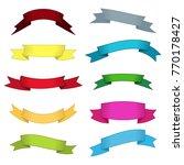 set of ten multicolor ribbons... | Shutterstock .eps vector #770178427