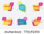 weekend sale banner  special...   Shutterstock .eps vector #770192353