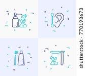 hygiene thin line icons set ... | Shutterstock .eps vector #770193673