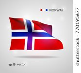 norway 3d style glowing flag... | Shutterstock .eps vector #770195677