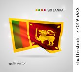 sri lanka 3d style glowing flag ...   Shutterstock .eps vector #770195683