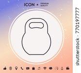 kettlebell line icon | Shutterstock .eps vector #770197777