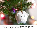 save money and christmas... | Shutterstock . vector #770205823