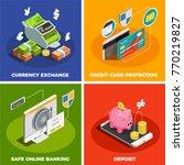 safe online banking 4 isometric ...   Shutterstock .eps vector #770219827