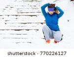 outdoor sport exercises  sporty ...   Shutterstock . vector #770226127
