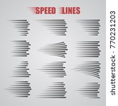 speed lines signs isolated.... | Shutterstock .eps vector #770231203