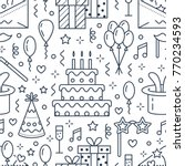 birthday party seamless pattern ... | Shutterstock .eps vector #770234593