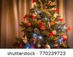 various christmas decorations... | Shutterstock . vector #770239723
