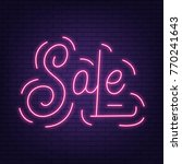sale. neon sign sale. neon... | Shutterstock .eps vector #770241643