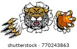 a wildcat angry animal sports... | Shutterstock .eps vector #770243863