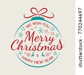 simple christmas card with... | Shutterstock .eps vector #770244697
