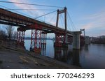 cable stayed rybalskii bridge.... | Shutterstock . vector #770246293