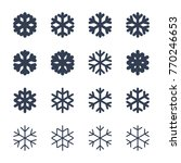 snowflakes signs set. black... | Shutterstock . vector #770246653