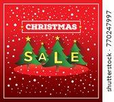 christmas sale vector ...   Shutterstock .eps vector #770247997