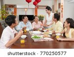 family celebrating chinese... | Shutterstock . vector #770250577
