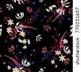 vector of dark soft blooming... | Shutterstock .eps vector #770251657