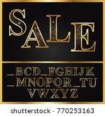 alphabet  alphabet a z  font ... | Shutterstock .eps vector #770253163