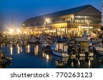 fishing boats at old jaffo port ... | Shutterstock . vector #770263123