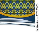 3d paper floral background   Shutterstock .eps vector #770273803