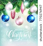 christmas shiny background with ... | Shutterstock .eps vector #770276947