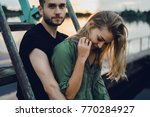 loving young couple hugging ... | Shutterstock . vector #770284927
