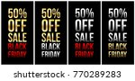 black friday with 50  sale... | Shutterstock .eps vector #770289283