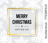 merry christmas and happy new... | Shutterstock .eps vector #770289313