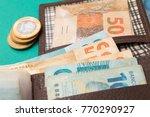 money from brazil. notes of...   Shutterstock . vector #770290927