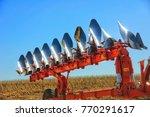 details of a modern combine...   Shutterstock . vector #770291617