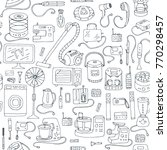 household appliances doodle... | Shutterstock .eps vector #770298457