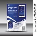 mobile apps flyer template.... | Shutterstock .eps vector #770305597