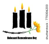 holocaust remembrance day.... | Shutterstock .eps vector #770306203