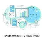 team business ideas. analysis... | Shutterstock .eps vector #770314903
